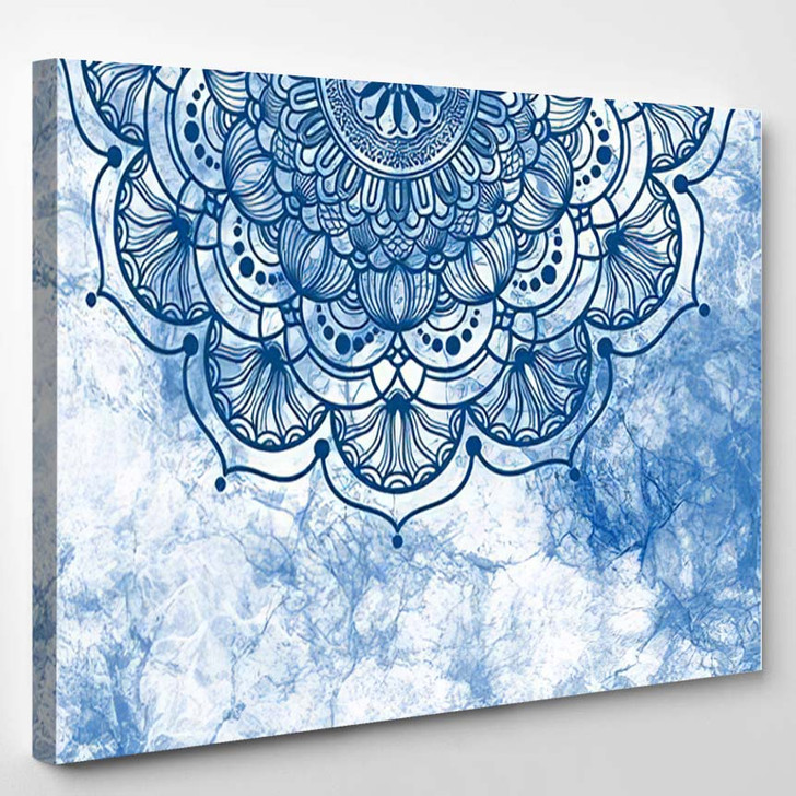 Abstract Mandala Graphic Design Watercolor Digital 3 1 - Galaxy Sky and Space Canvas Wall Decor