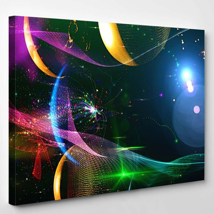 Abstract Multicolored Space Background Science Fiction 1 - Galaxy Sky and Space Canvas Wall Decor