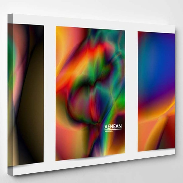 Abstract Smooth Gradient Colors Shiny Flare 4 - Galaxy Sky and Space Canvas Wall Decor