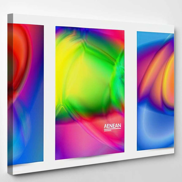 Abstract Smooth Gradient Colors Shiny Flare 5 - Galaxy Sky and Space Canvas Wall Decor