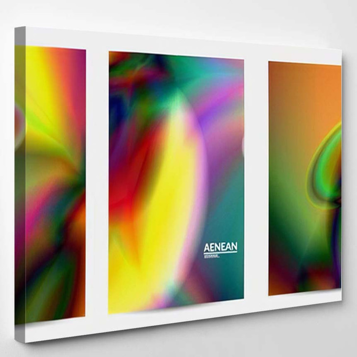 Abstract Smooth Gradient Colors Shiny Flare 15 - Galaxy Sky and Space Canvas Wall Decor