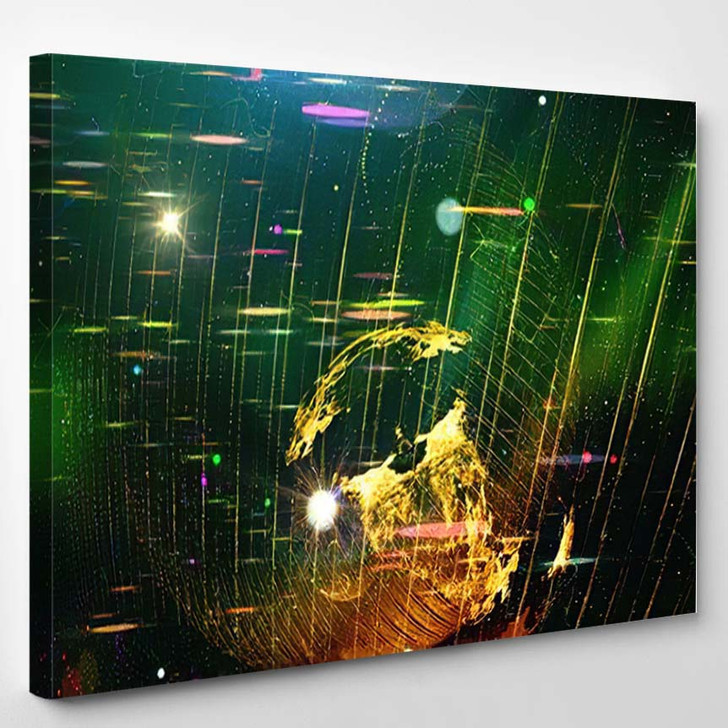 Abstract Space Background Science Fiction Wallpaper 3 - Galaxy Sky and Space Canvas Wall Decor