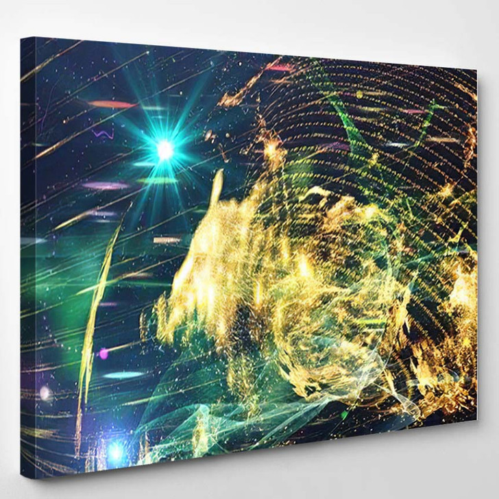 Abstract Space Background Science Fiction Wallpaper 4 - Galaxy Sky and Space Canvas Wall Decor