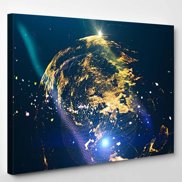 Abstract Space Background Science Fiction Wallpaper 5 - Galaxy Sky and Space Canvas Wall Decor