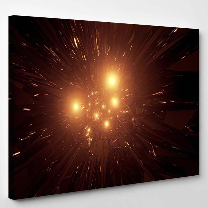 Abstract Space Galaxy Graphic Artwork Glowing 1 - Galaxy Sky and Space Canvas Wall Decor