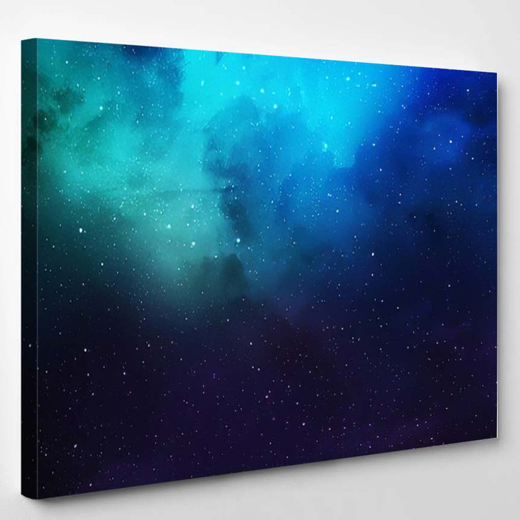 Abstract Space Nebula Backgrounds - Galaxy Sky and Space Canvas Wall Decor