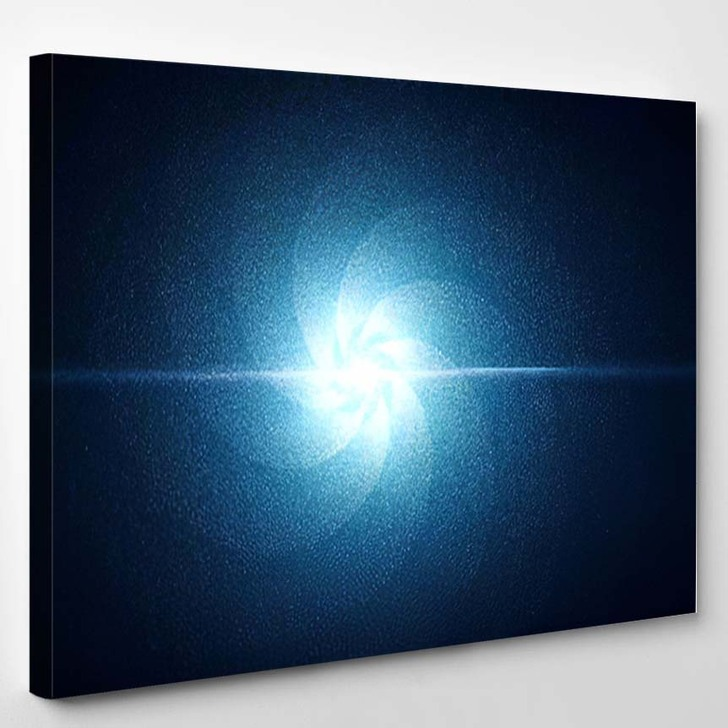 Abstract Swirling Spiral Stars Bright Light - Galaxy Sky and Space Canvas Wall Decor