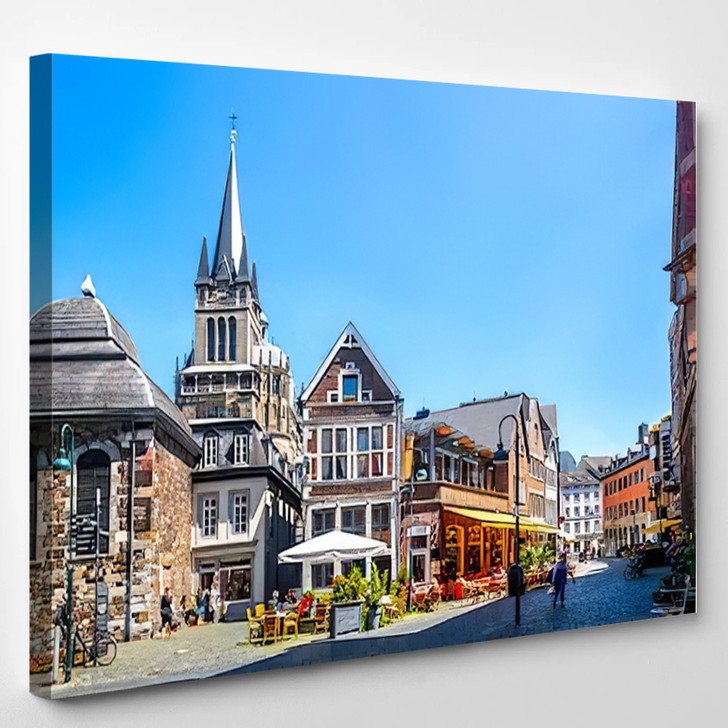 Aachen Cathedral Germany - Landmarks and Monuments Canvas Wall Decor