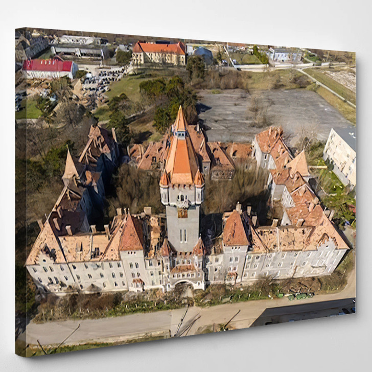 Abandoned Army Fort Hajmasker Hungary - Landmarks and Monuments Canvas Wall Decor