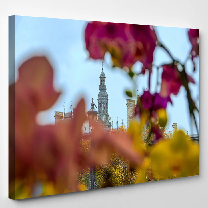Abstract View Dome Hotel De Ville - Landmarks and Monuments Canvas Wall Decor