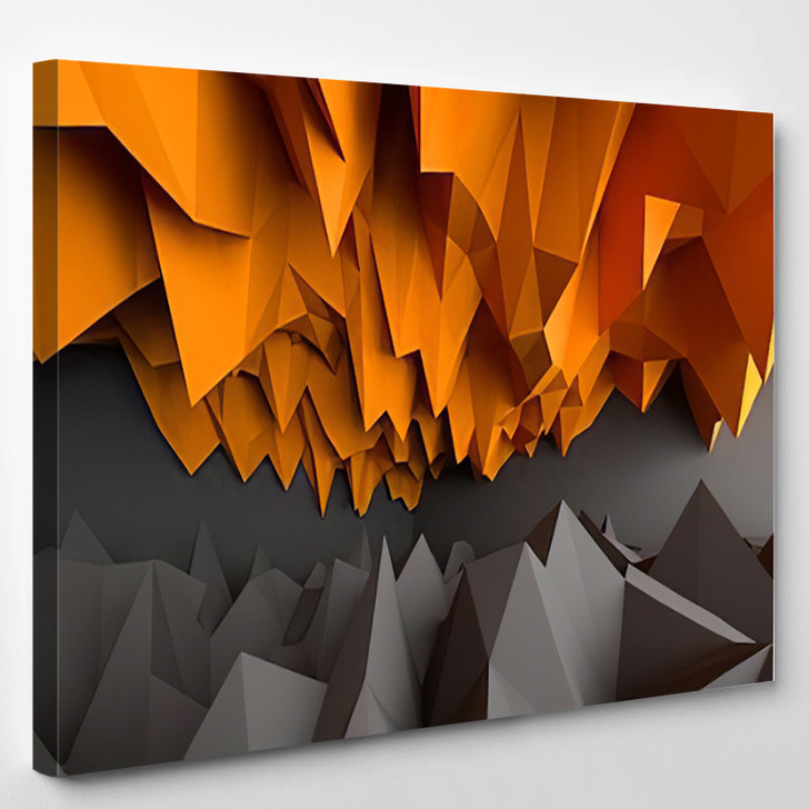 Abstract Black And Orange Background - Abstrast Canvas Wall Decor