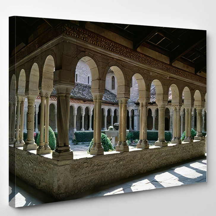 Abbey Follina Treviso Veneto Italy Cloister - Landmarks and Monuments Canvas Wall Decor