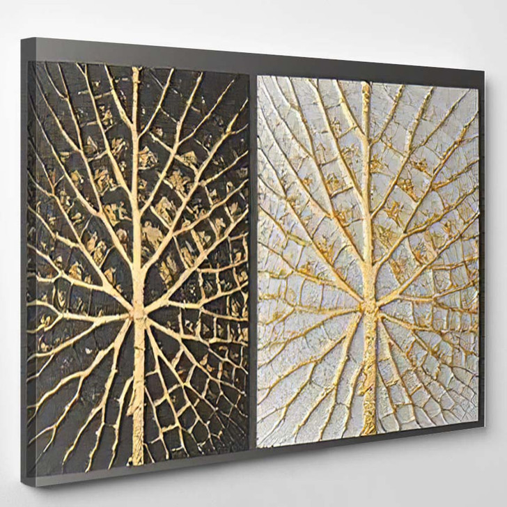 3D Wall Art Picture Gold Leaf - Paintings Canvas Wall Decor