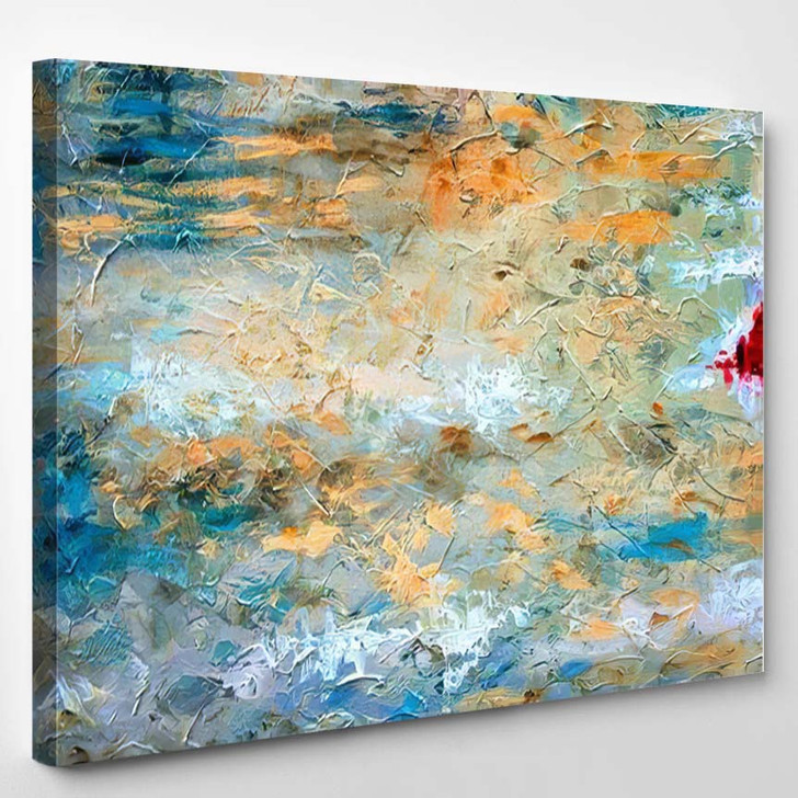 Abstract Art Background Oil Painting On 4 - Paintings Canvas Wall Decor