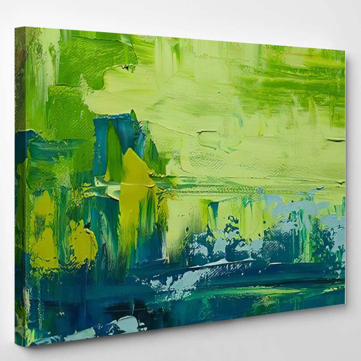 Abstract Art Background Oil Painting On 1 1 - Paintings Canvas Wall Decor