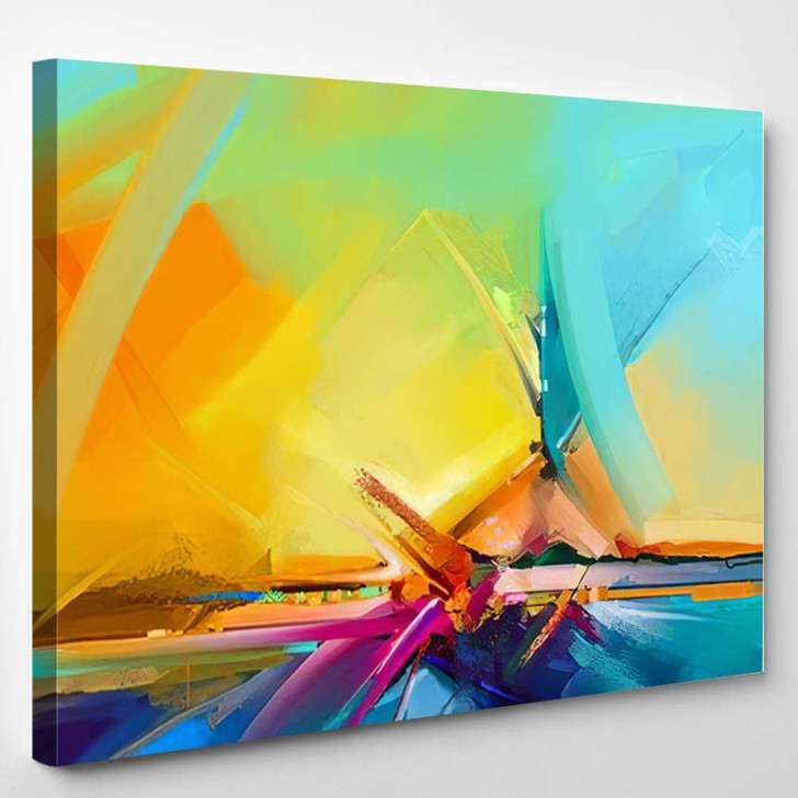 Abstract Color Oil Acrylic Paint Brush - Paintings Canvas Wall Decor