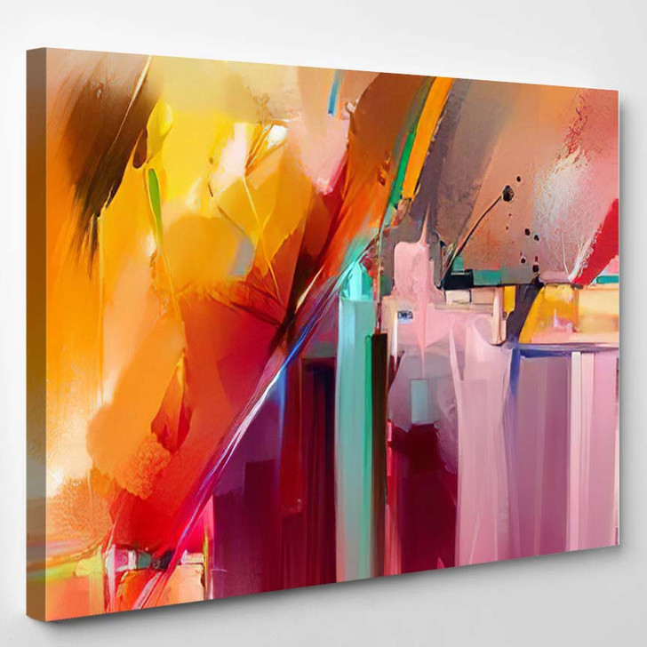 Abstract Colorful Oil Painting On Canvas 4 1 - Paintings Canvas Wall Decor