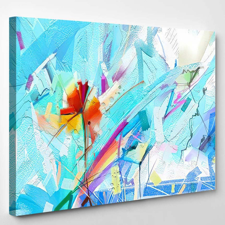 Abstract Colorful Oil Painting On Canvas 8 - Paintings Canvas Wall Decor
