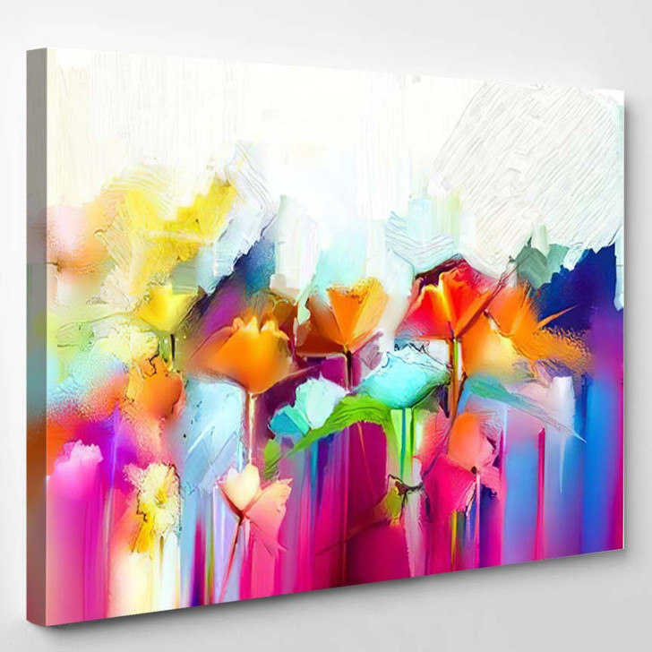 Abstract Colorful Oil Painting On Canvas 18 - Paintings Canvas Wall Decor