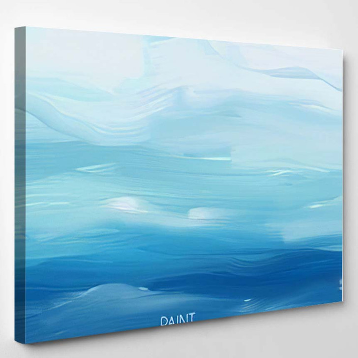 Abstract Oil Painting Texture Hand Drawn - Paintings Canvas Wall Decor
