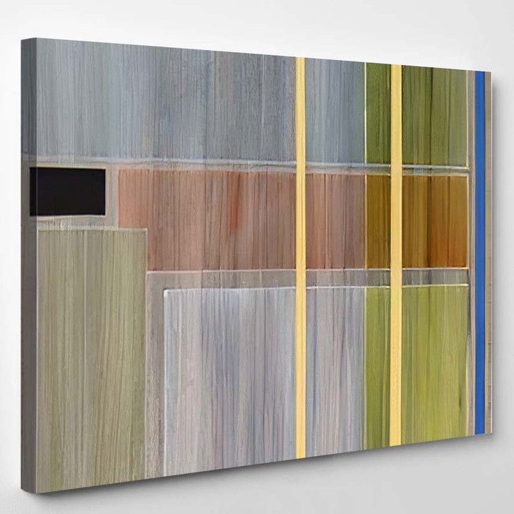 Abstract Painting Linear Structures Rectangles Thinly - Paintings Canvas Wall Decor