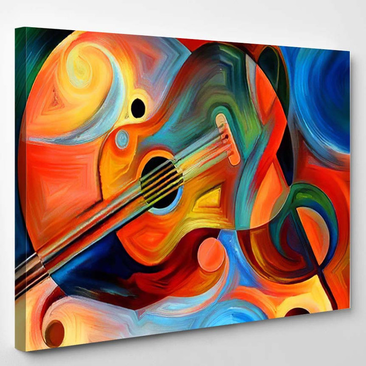 Abstract Painting On Subject Music Rhythm - Paintings Canvas Wall Decor