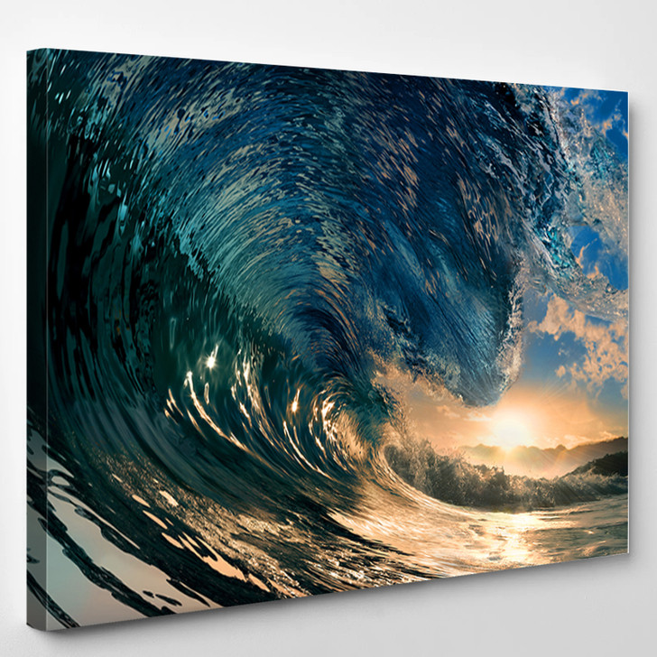Breaking Ocean Wave - Nature Canvas Wall Decor