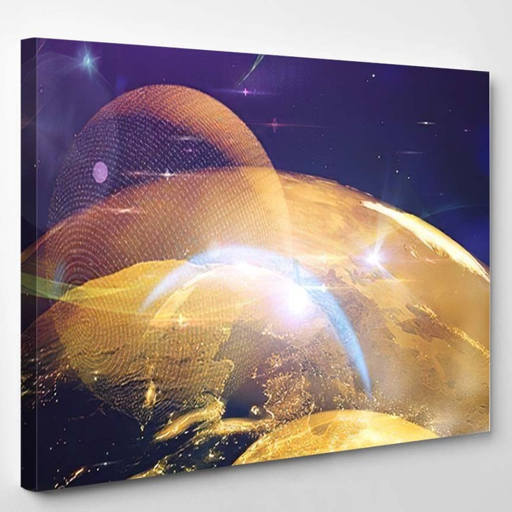 Abstract Multicolored Background Explosion Star Gloss - Sky and Space Canvas Wall Decor