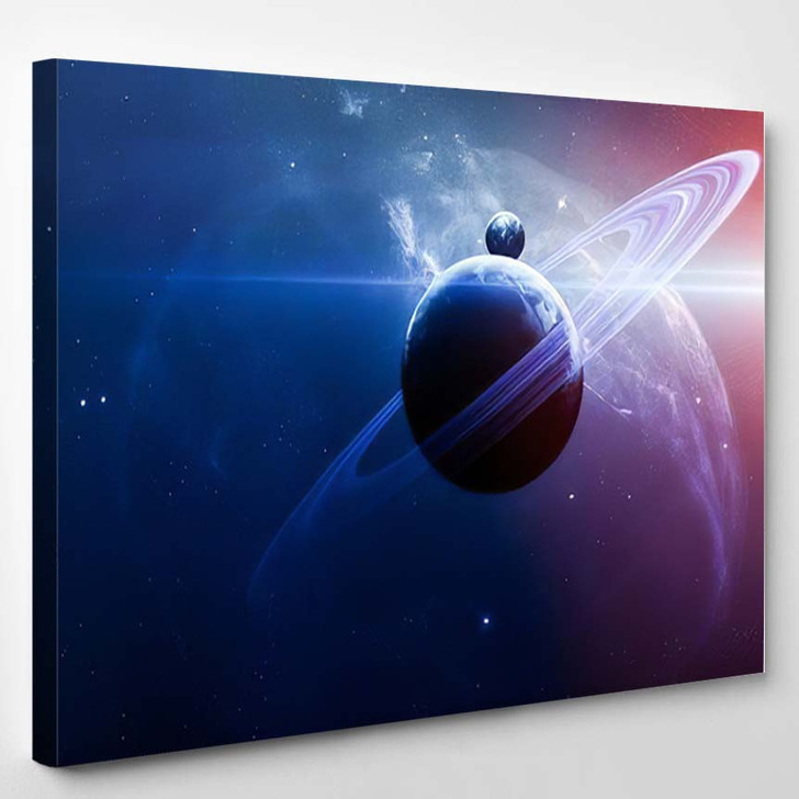 Abstract Scientific Background Planets Space Nebul A1 - Sky and Space Canvas Wall Decor