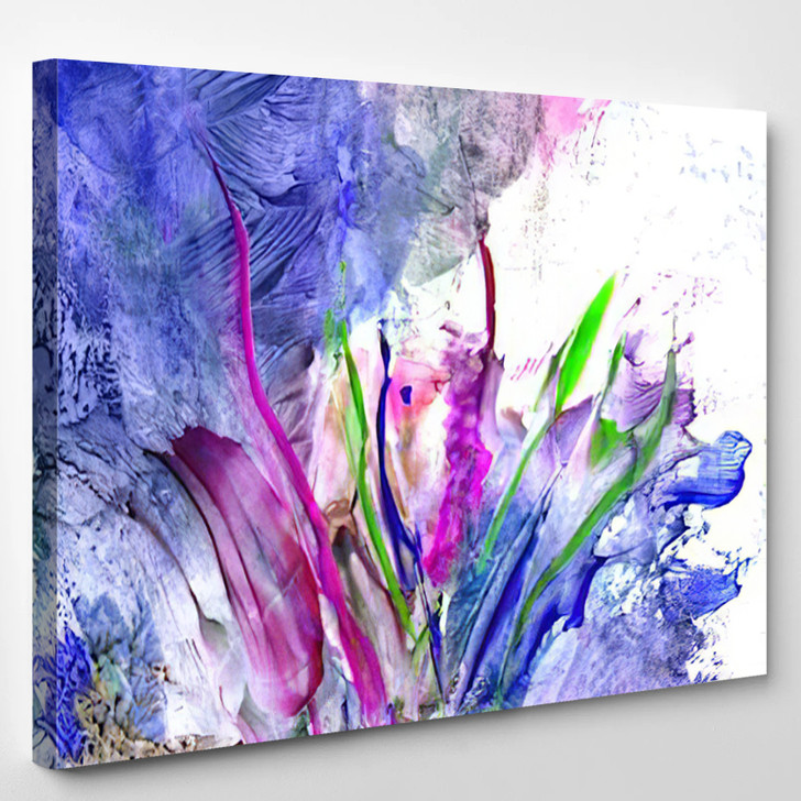 Colorful Paint Splashing - Abstrast Canvas Wall Decor