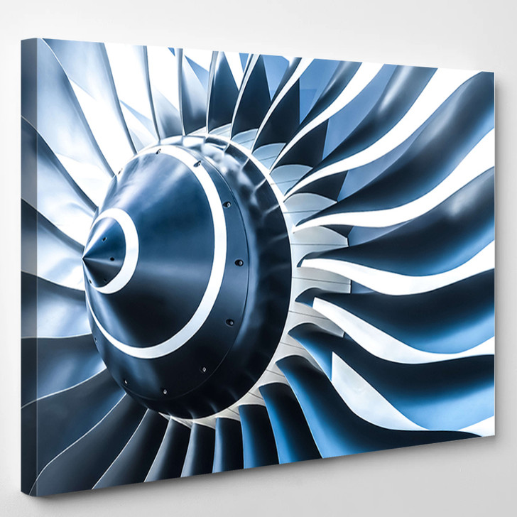 Large Propeller - Industrial Canvas Wall Decor