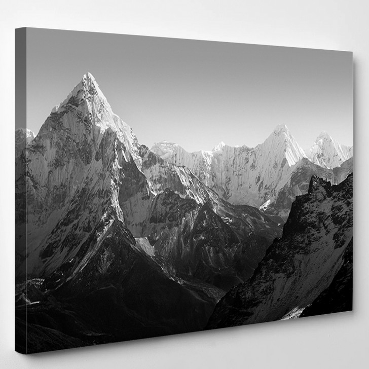 Spectacular Mountain Scenery On The Mount Everest Base Camp Trek Through The Himalaya - Nature Canvas Wall Decor