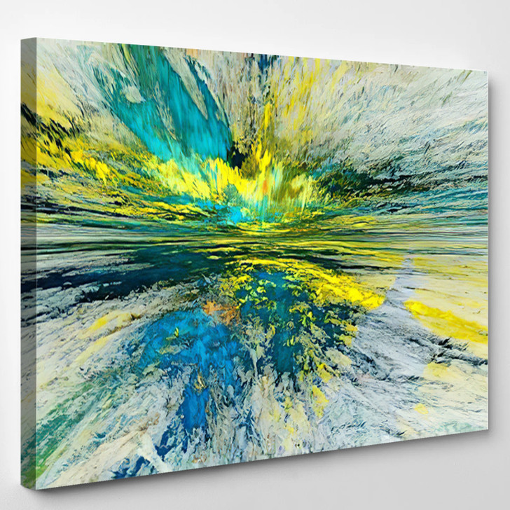 The Colors In The Series Fancy Paint Background Consists Of Fractal Color Texture - Abstrast Canvas Wall Decor