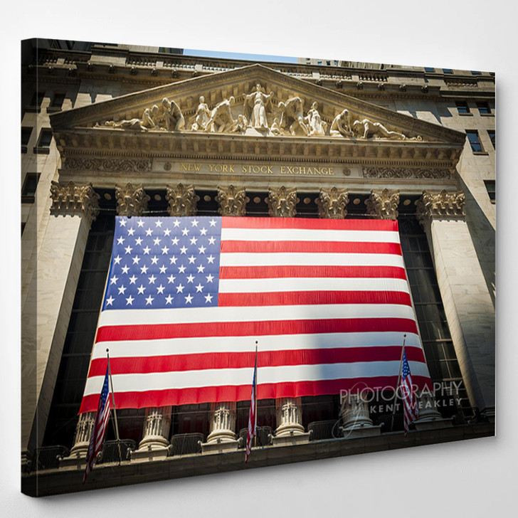 Wall Street New York Stock Exchange Entrance - Abstrast Canvas Wall Decor