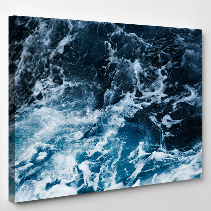 Waves In Ocean Splashing Waves - Nature Canvas Wall Decor