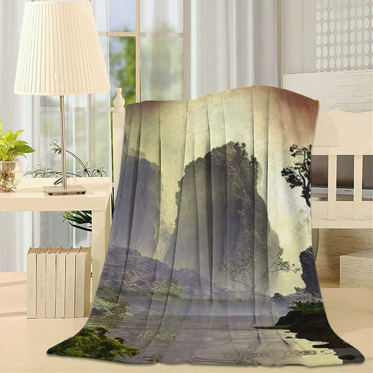 3D Illustration Landscape Fancy Concept Which - Fantasy Fleece Throw Blanket