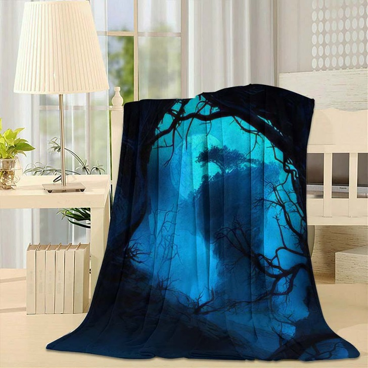 3D Illustration Landscape Where One Observes 1 - Fantasy Fleece Throw Blanket