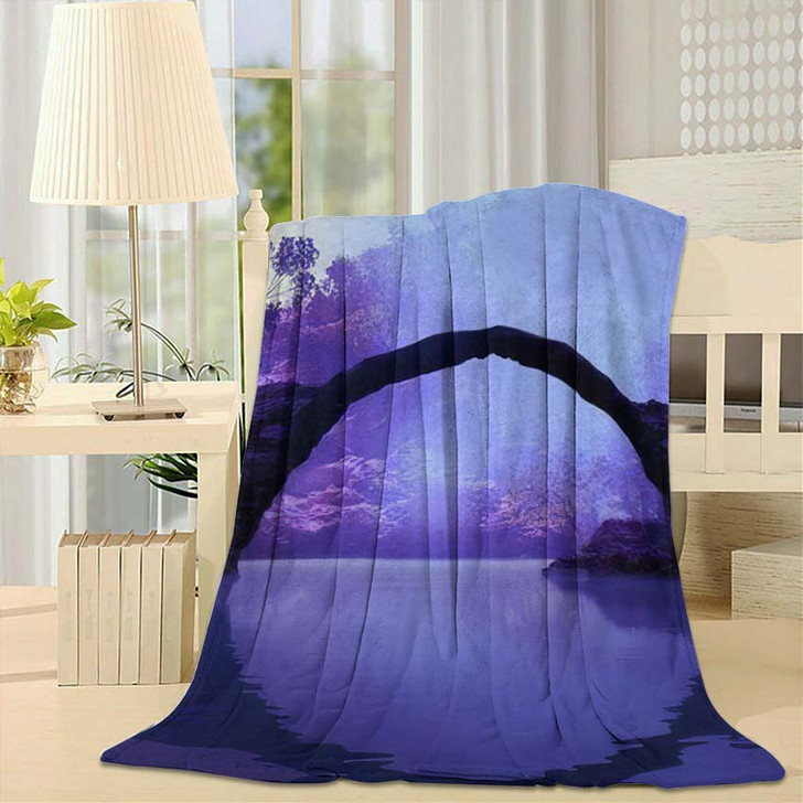 3D Illustration Landscape Where You Can - Fantasy Fleece Throw Blanket