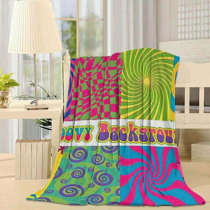 1960S Psychedelic Backgrounds Bright Colors Vintage - Psychedelic Fleece Throw Blanket