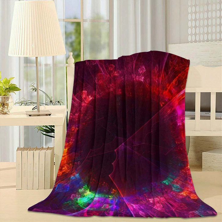 3D Rendering Abstract Fantasy Light Fractal - Fantastic Fleece Throw Blanket