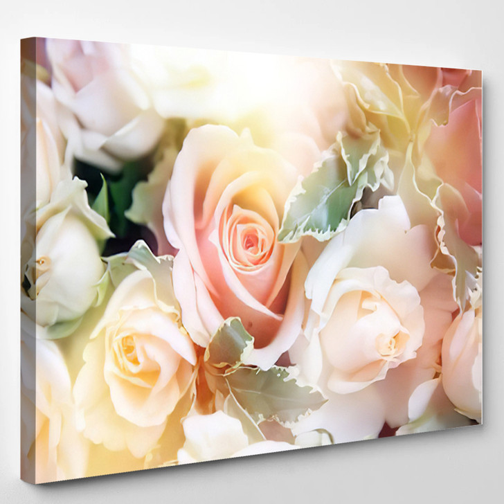 Beautiful Flowers Made With Color Filters - Abstract Canvas Wall Decor