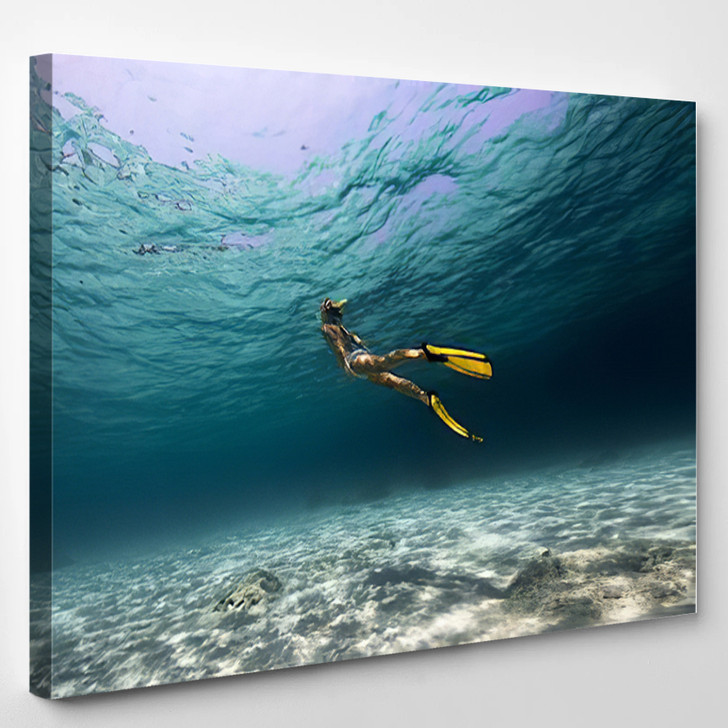 Girl Underwater - Sports and Recreation Canvas Wall Decor