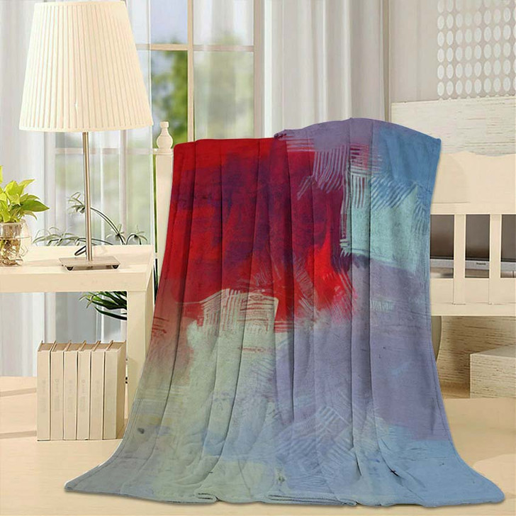 2D Illustration Artistic Background Image Abstract 1 - Abstract Art Fleece Throw Blanket