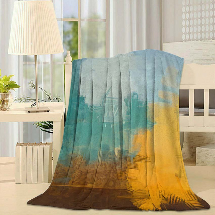2D Illustration Artistic Background Image Abstract 2 - Abstract Art Fleece Throw Blanket