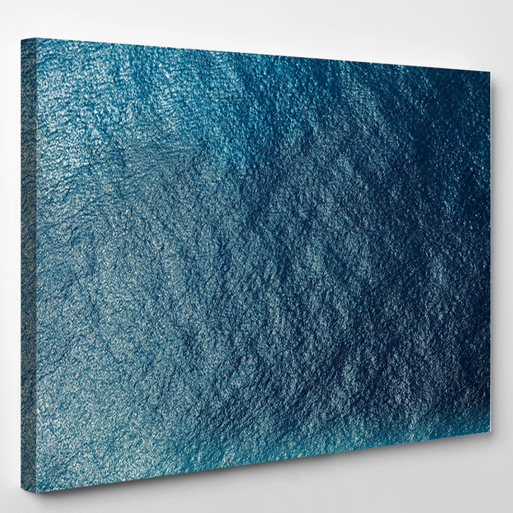 Sea Surface Aerial View - Nature Canvas Wall Decor
