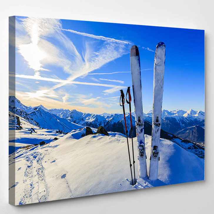 Skiing - Sports and Recreation Canvas Wall Decor