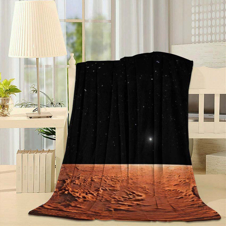360 Equirectangular Projection Mars Hdri Environment - Sky and Space Fleece Throw Blanket