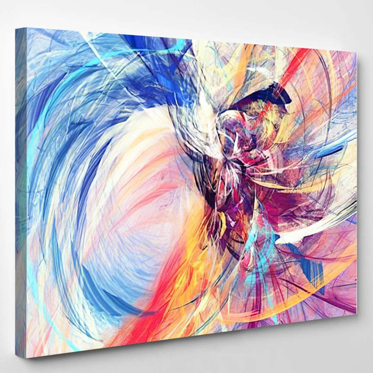 Abstract Beautiful Multicolor Bright Artistic Background - Abstract Canvas Wall Decor