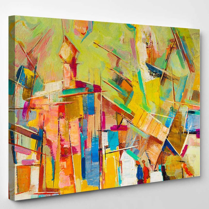 Abstract Colorful Oil Painting On Canvas - Abstract Canvas Wall Decor