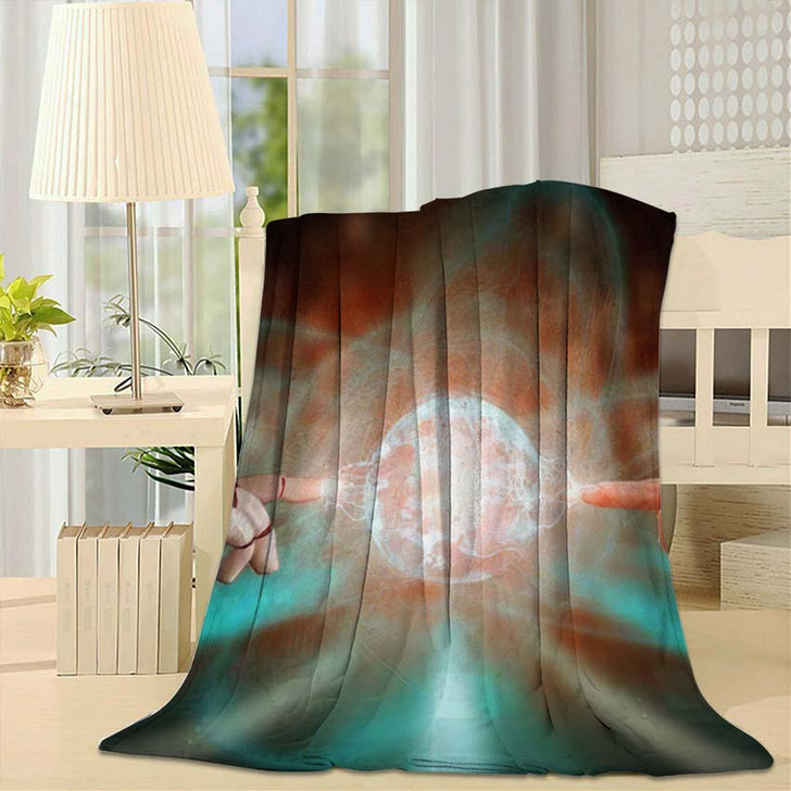 3D Rendering Artificial Intelligence Ai Research 11 - Creation of Adam Fleece Throw Blanket